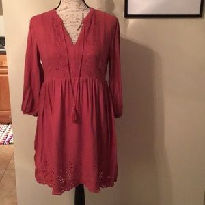 Soft Rose 🌹Pink Peasant Dress Size Small